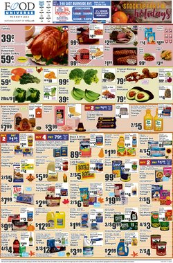 Sales deals in Food Universe