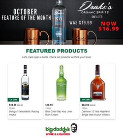 Big Daddy's Liquors deals in the Big Daddy's Liquors catalog ( 14 days left)