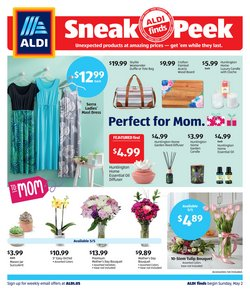 Mother's Day deals in the Aldi catalog ( Expires today)