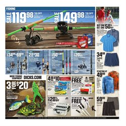 Fishing deals in the Dick's Sporting Goods weekly ad in Knoxville TN