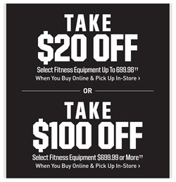 Fitness deals in the Dick's Sporting Goods weekly ad in New York