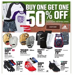 Baseball deals in the Dick's Sporting Goods weekly ad in Pontiac MI