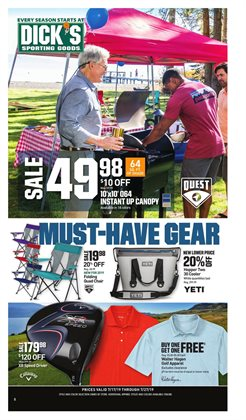 Sports deals in the Dick's Sporting Goods weekly ad in Concord CA