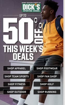 Sports offers in the Dick's Sporting Goods catalogue in Burlington NC ( 2 days left )
