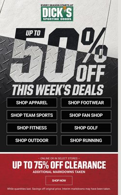 Sports offers in the Dick's Sporting Goods catalogue in Long Beach CA ( Expires tomorrow )
