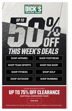 Sports offers in the Dick's Sporting Goods catalogue in Syracuse NY ( Expires today )