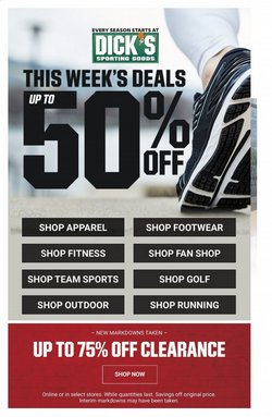 Sports offers in the Dick's Sporting Goods catalogue in Dallas TX ( 2 days left )