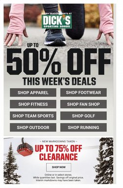 Sports offers in the Dick's Sporting Goods catalogue in Union City CA ( 1 day ago )