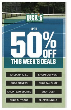 Sports deals in the Dick's Sporting Goods catalog ( Published today)