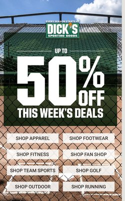 Sports deals in the Dick's Sporting Goods catalog ( 3 days left)