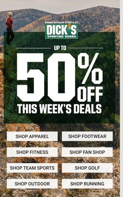 Sports deals in the Dick's Sporting Goods catalog ( 4 days left)