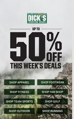 Sports deals in the Dick's Sporting Goods catalog ( Expires tomorrow)