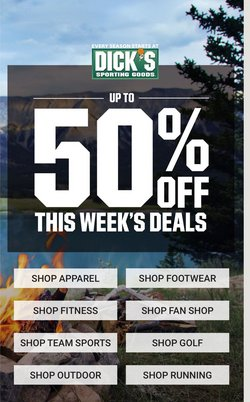 Sports deals in the Dick's Sporting Goods catalog ( Expires today)
