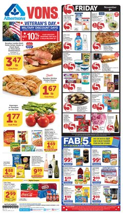 Albertsons deals in the Chula Vista CA weekly ad