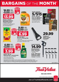 Tools & Hardware deals in the True Value weekly ad in Columbus IN