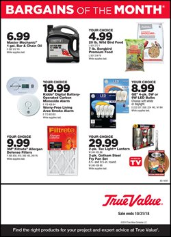Tools & Hardware deals in the True Value weekly ad in Livonia MI