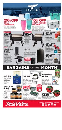 Saw deals in the True Value weekly ad in New York
