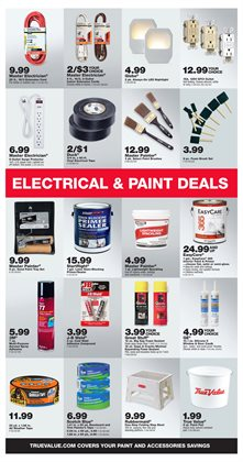 Paint deals in the True Value weekly ad in New York