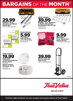 Tools & Hardware deals in the True Value weekly ad in Acworth GA