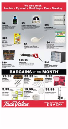 Trees deals in the True Value weekly ad in New York
