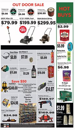 Saw deals in the True Value weekly ad in Fullerton CA