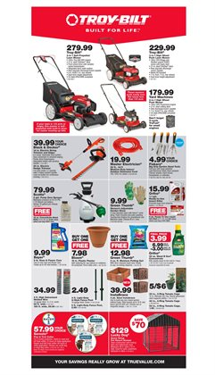 Saw deals in the True Value weekly ad in Victoria TX