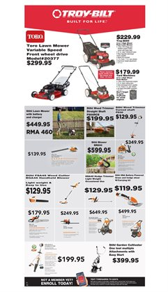 Lawn mower deals in the True Value weekly ad in Poughkeepsie NY
