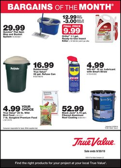 Tools & Hardware deals in the True Value weekly ad in Houston TX