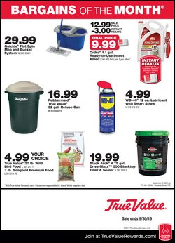Tools & Hardware deals in the True Value weekly ad in Fullerton CA