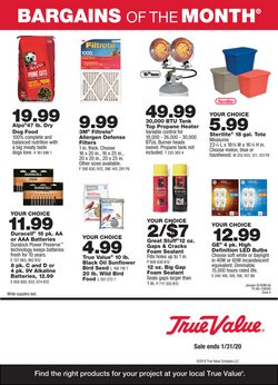 Tools & Hardware deals in the True Value weekly ad in Chula Vista CA