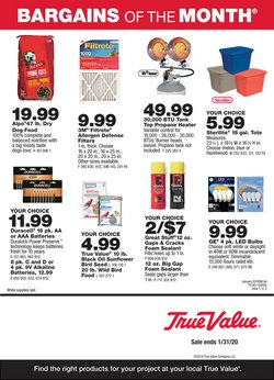 Tools & Hardware deals in the True Value weekly ad in Chicago Ridge IL