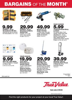 Tools & Hardware offers in the True Value catalogue in Torrance CA ( 9 days left )