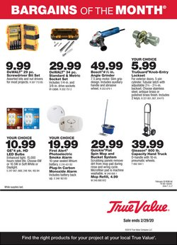 Tools & Hardware offers in the True Value catalogue in Medina OH ( 6 days left )