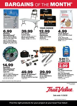 True Value catalogue ( Expires tomorrow )