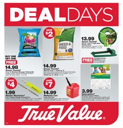 Tools & Hardware offers in the True Value catalogue in Elyria OH ( 6 days left )