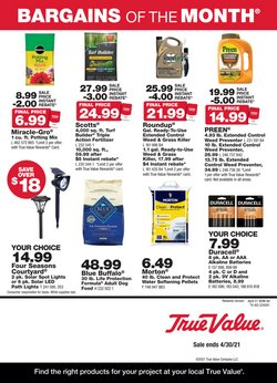 Tools & Hardware offers in the True Value catalogue in Elyria OH ( 11 days left )