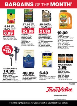 Tools & Hardware offers in the True Value catalogue in Los Angeles CA ( 11 days left )