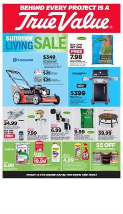True Value deals in the San Jose CA weekly ad
