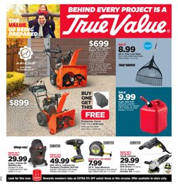 Tools & Hardware deals in the True Value weekly ad in Johnstown PA