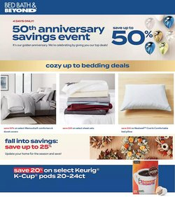 Home & Furniture deals in the Bed Bath & Beyond catalog ( Expires tomorrow)