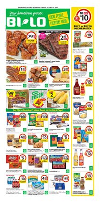 Bi-Lo deals in the Darien GA weekly ad