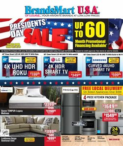 TV deals in the BrandsMart USA weekly ad in Delray Beach FL