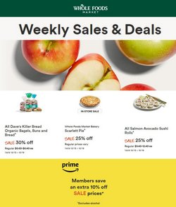 Grocery & Drug deals in the Whole Foods Market catalog ( Published today)