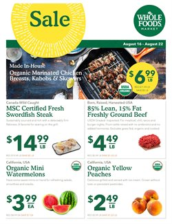 Whole Foods Market deals in the Miami FL weekly ad