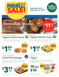 Whole Foods Market deals in the Boston MA weekly ad