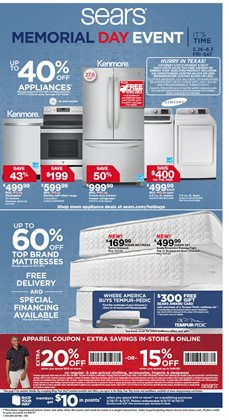 Department Stores deals in the Sears weekly ad in Dallas TX