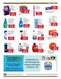 Detergent deals in the Commissary weekly ad in Savannah GA