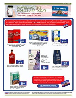 Coffee deals in the Commissary weekly ad in New York