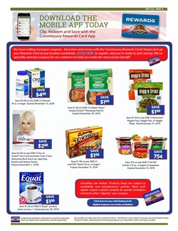 Ring deals in the Commissary weekly ad in New York