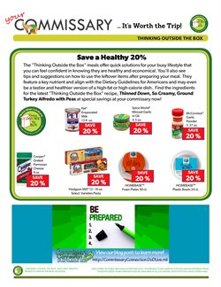 Pasta deals in the Commissary weekly ad in Savannah GA